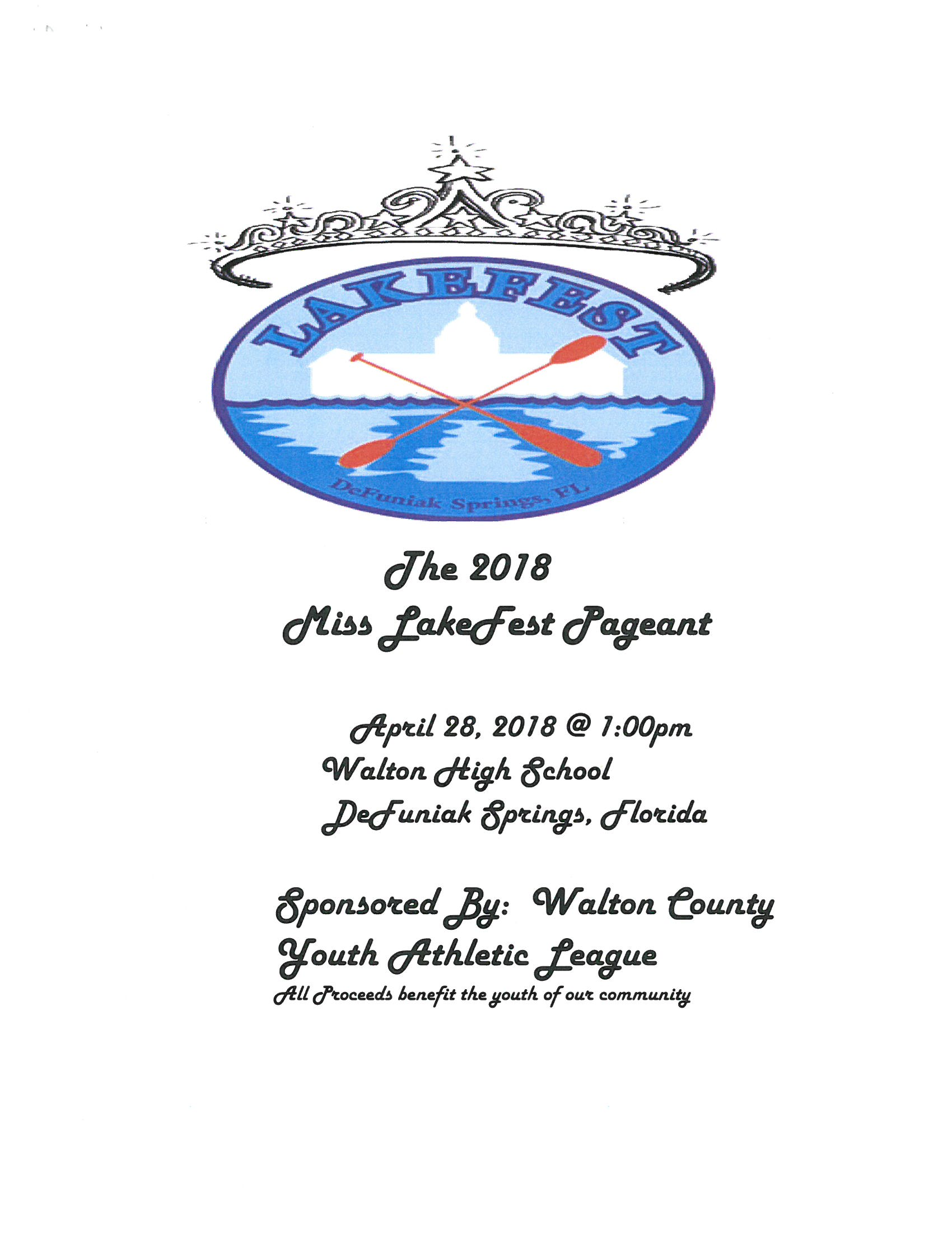 2018 LakeFest Pageant Information