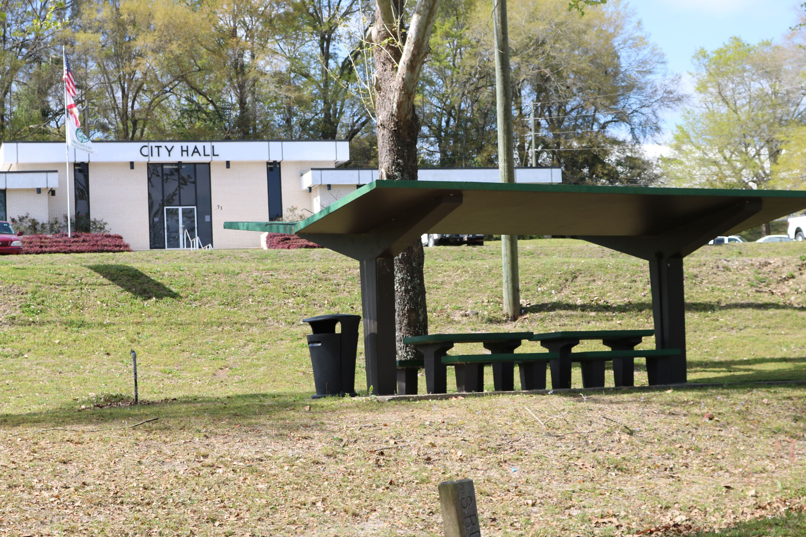 One of three picnic pavilions at Wayside Park