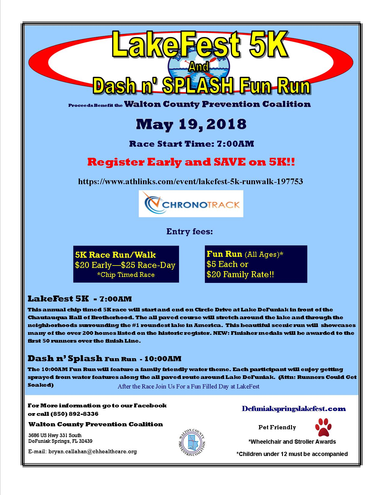 18 LakeFest 5K Flyer Registration Link