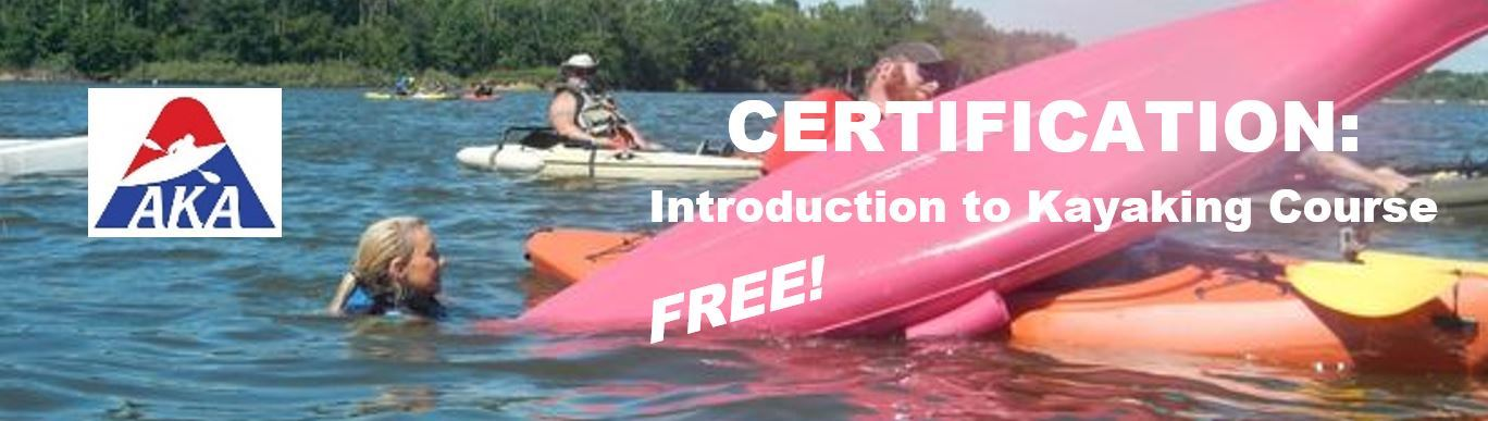 Introduction to Kayaking Certification Banner 2019