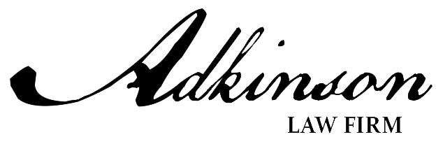A logo with the words Adkinson Attorney