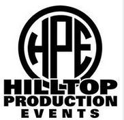 A logo with the words hilltop productions