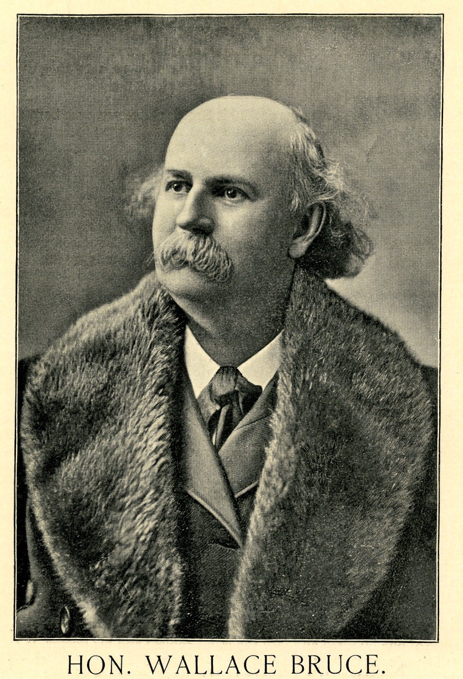 Portrait of a man with balding head and thick mustache
