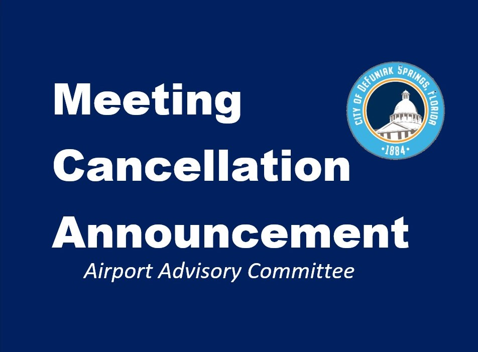 Airport Advisory Board Cancellation Notice