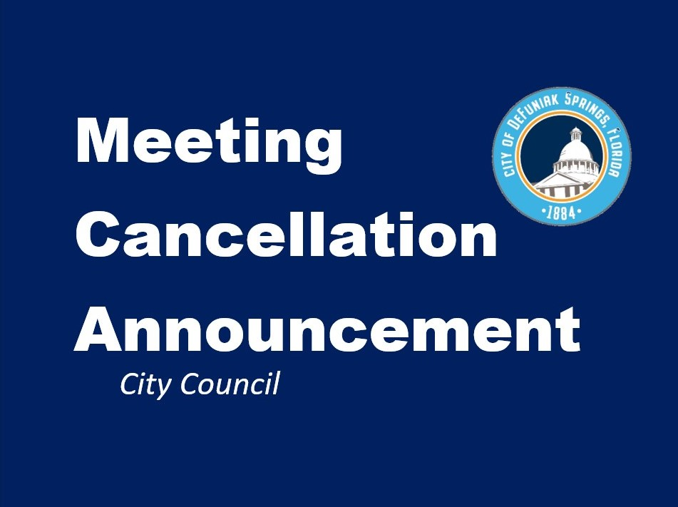 City Council Cancellation Notice with Logo