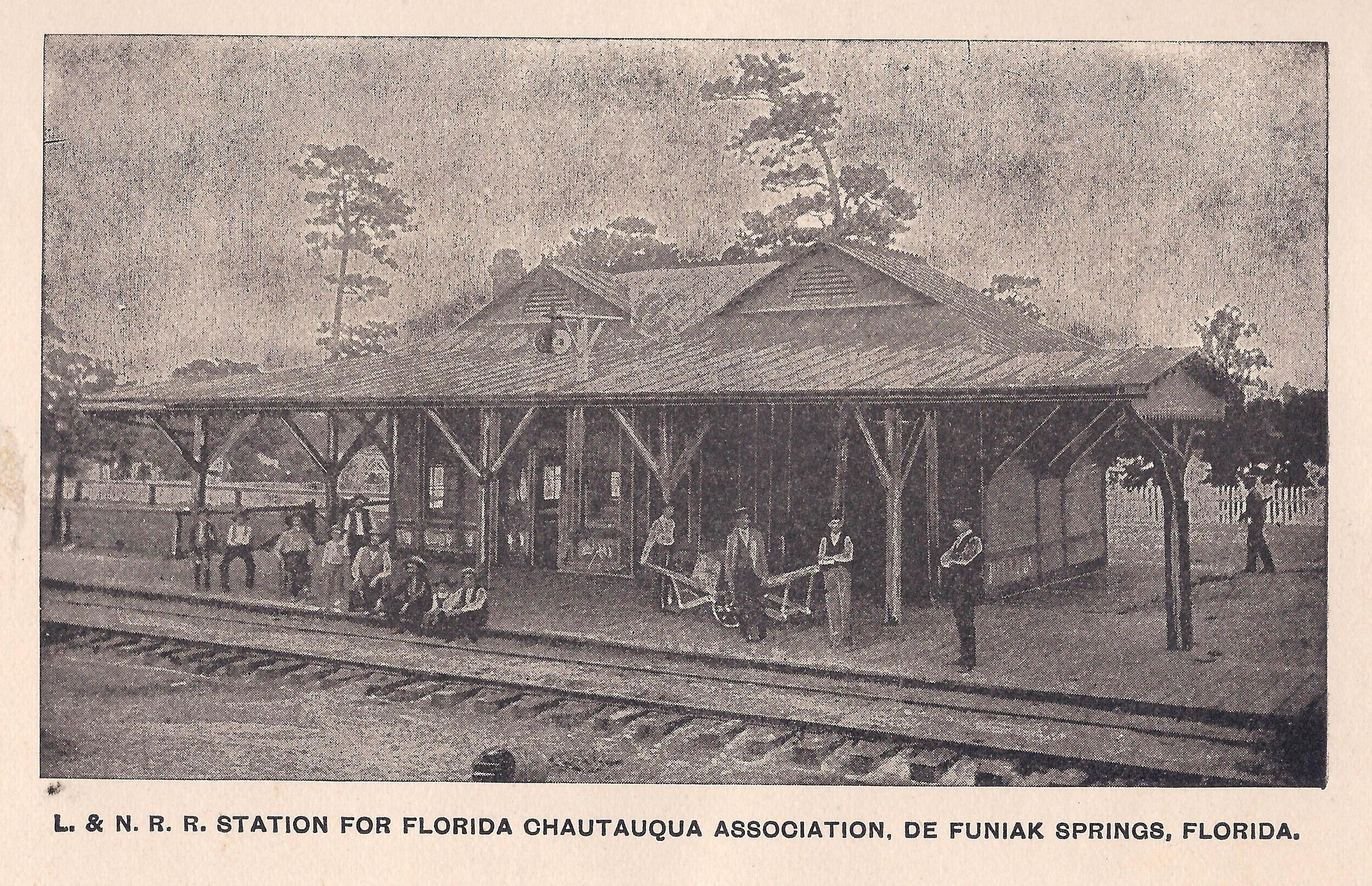a train depot taken during the Victorian era