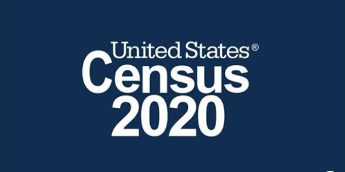 Words saying United States Census 2020