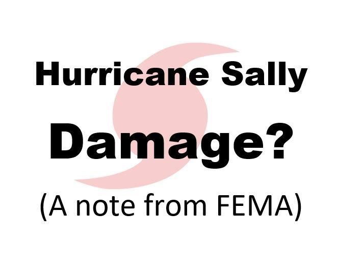 Hurricane Sally Damage?  A Note from FEMA