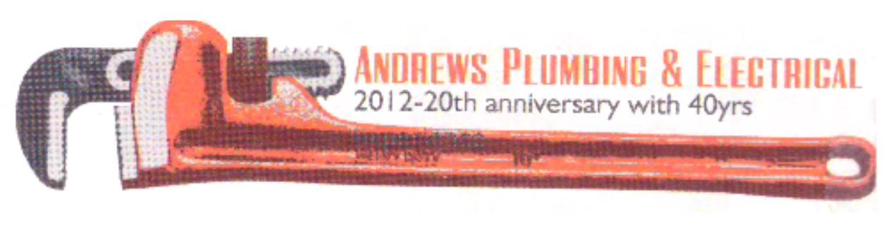 Logo which says Andrews Plumbing and Electrical
