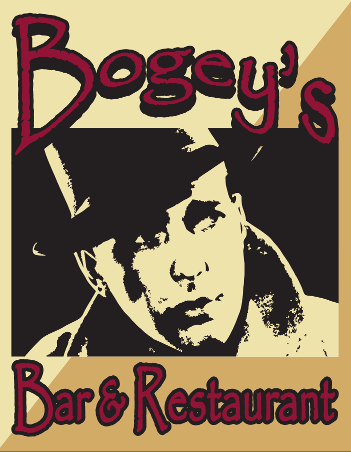 Logo which says Bogey's