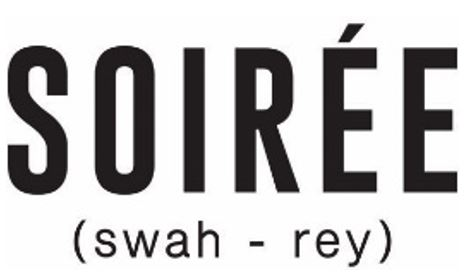 Logo which says Soiree